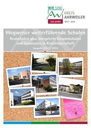 Wegweiser weiterführende Schulen Ausgabe 4 - Schuljahr 2015/2016