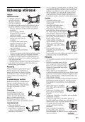 Sony KDL-26P2520 - KDL-26P2520 Istruzioni per l'uso Ungherese - Page 7