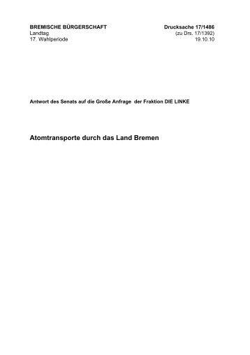 Antwort - Linksfraktion Bremen