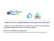 Global IT Services and BPO Market in Government Sector 2015-2019