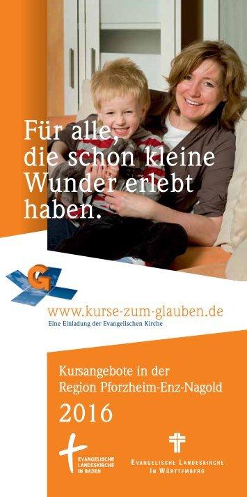 Kurse Zum Glauben in der Region Pforheim-Enz-Nagold