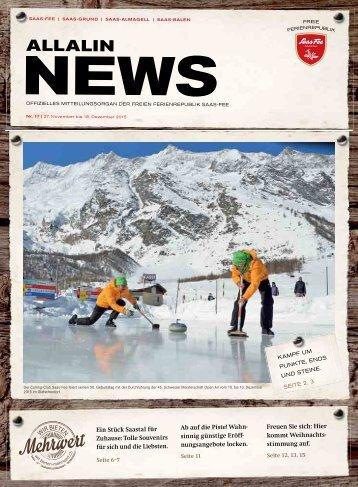 Allalin News Nr. 17 - SAAS-FEE | SAAS-GRUND | SAAS-ALMAGELL | SAAS-BALEN