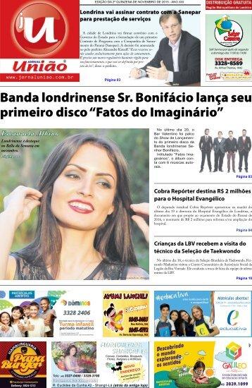 Jornal União - Edição da 2ª Quinzena de Novembro de 2015
