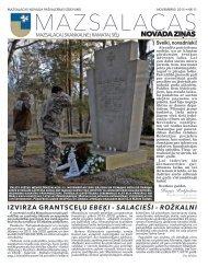 Mazsalacas novada ziņas - novembris