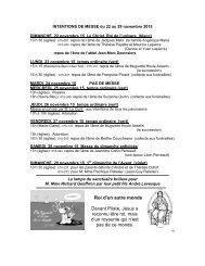 INTENTIONS DE MESSE du 15 au 22 décembre 2013 DIMANCHE ...