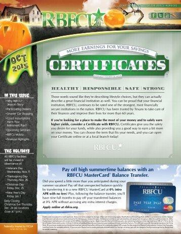 Current Newsletter - Randolph-Brooks Federal Credit Union