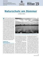 Naturschutz am Dümmer - Naturschutzring Dümmer