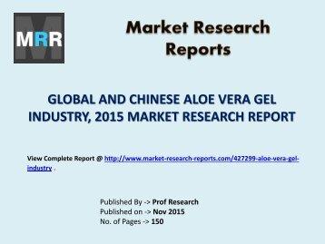 Global Aloe Vera Gel Industry Forecast Study 2010-2020