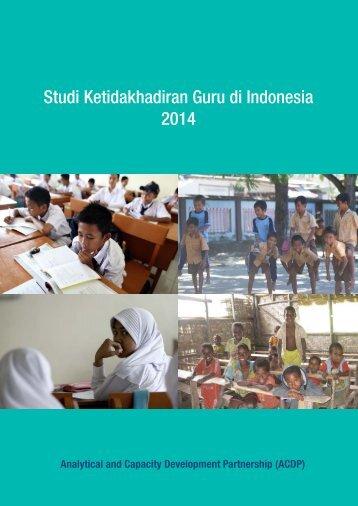 Studi Ketidakhadiran Guru di Indonesia 2014