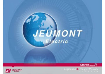 Jeumont Electric brochure - 2011