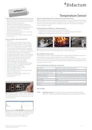 Datasheet SNMP-enabled Temperature Sensor for Didactum Monitoring Units