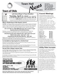 Saturday, April 14, 2012 9 am - Town of Olds