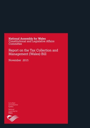 Report on the Tax Collection and Management (Wales) Bill
