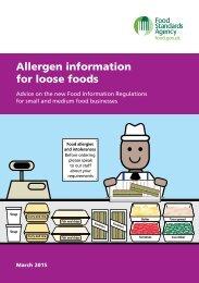 Allergen information for loose foods