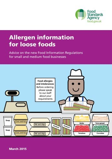 Allergen information for loose foods