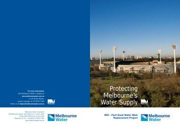 M41 Punt Road Water Main Replacement Project - Melbourne Water