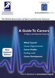 A Guide To Careers - BASES
