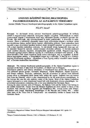 PDF version - Magyar Természettudományi Múzeum