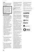 Sony KDL-55HX853 - KDL-55HX853 Istruzioni per l'uso Lettone - Page 2