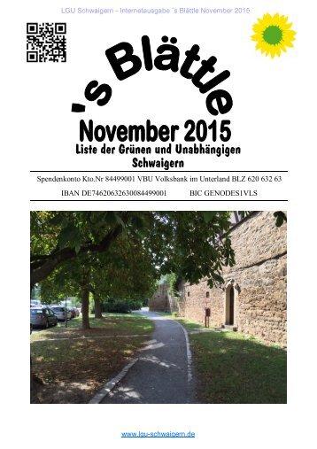 LGU Schwaigern - Blättle Nov 2015