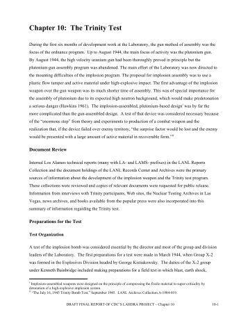 Chapter 10: The Trinity Test - LAHDRA