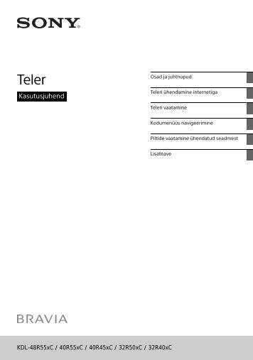 Sony KDL-40R455C - KDL-40R455C Istruzioni per l'uso Estone