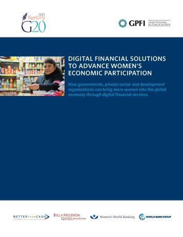 DIGITAL FINANCIAL SOLUTIONS TO ADVANCE WOMEN'S ECONOMIC PARTICIPATION