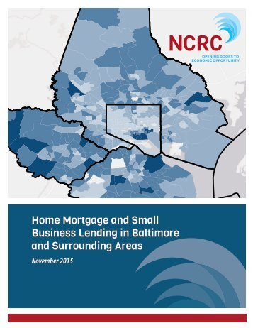 Business Lending in Baltimore and Surrounding Areas