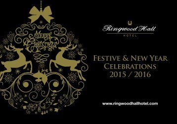 Festive & New Year Celebrations 2015 / 2016