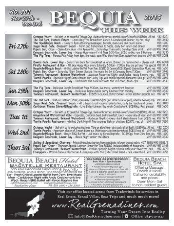 Bequia this Week 27 11 15