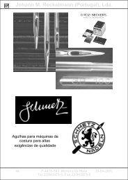 Peças sobresselentes p/máquinas de costura - jomro