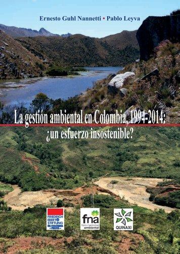 La gestión ambiental en Colombia 1994-2014