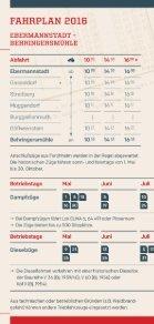 Fahrplan 2016 der Dampfbahn Fränkische Schweiz e.V. - Seite 2