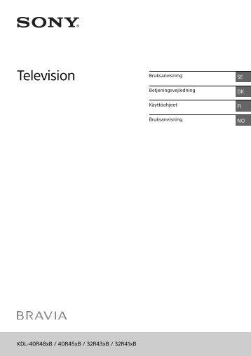 Sony KDL-32R435B - KDL-32R435B Istruzioni per l'uso Finlandese