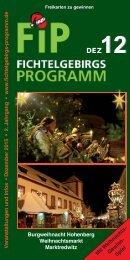 Fichtelgebirgs-Programm - Dezember 2015