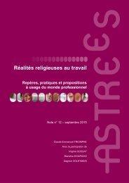 Réalités religieuses au travail