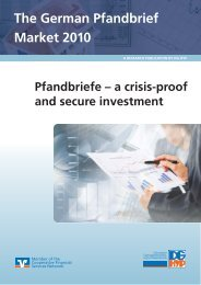 The German Pfandbrief Market 2010 - DG Hyp