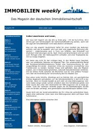 IMMOBILIEN weekly