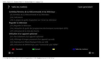 Sony KDL-40Z5800 - KDL-40Z5800 Istruzioni per l'uso Francese