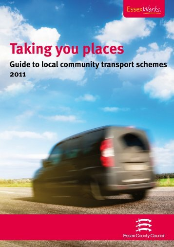 Taking you places - Essex County Council