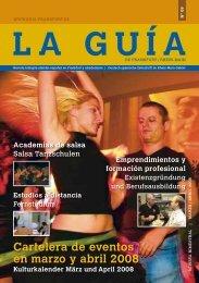 Cartelera de eventos en marzo y abril 2008 - La Guía de Frankfurt ...