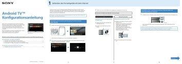 Sony KD-55X9305C - KD-55X9305C Guida all'impostazione Tedesco
