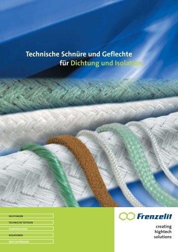 Technische Schnüre und Geflechte - Frenzelit Werke GmbH