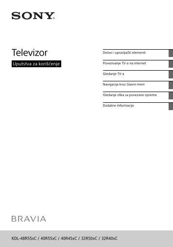 Sony KDL-32R400C - KDL-32R400C Istruzioni per l'uso Serbo