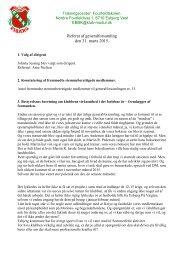 Referat af generalforsamling den 31 marts 2015