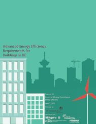 Advanced Energy Efficiency Requirements for Buildings in BC