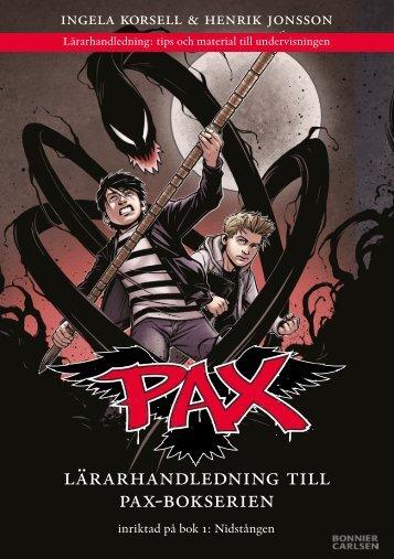 lärarhandledning till pax-bokserien