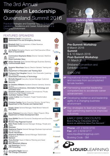 The 3rd Annual Women in Leadership Queensland Summit 2016