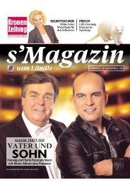 s'Magazin usm Ländle, 29. November 2015