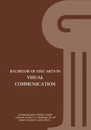 VISUAL COMMUNICATION - American University in Dubai